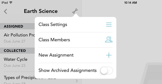 Class Settings