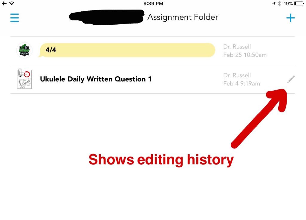 Student Editing History