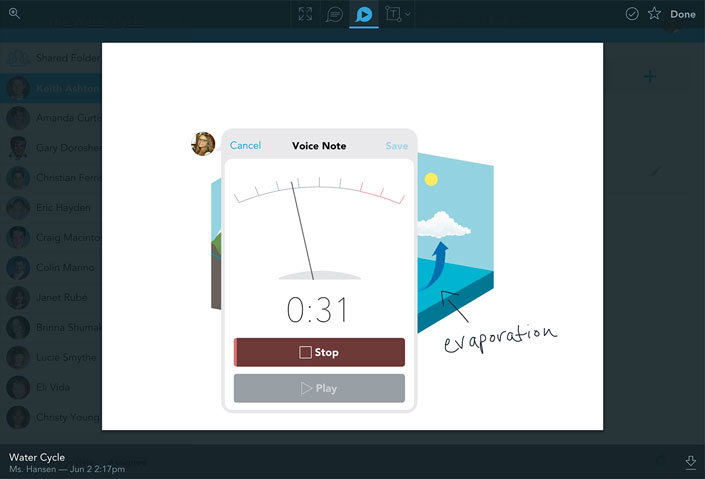 voice note bing created