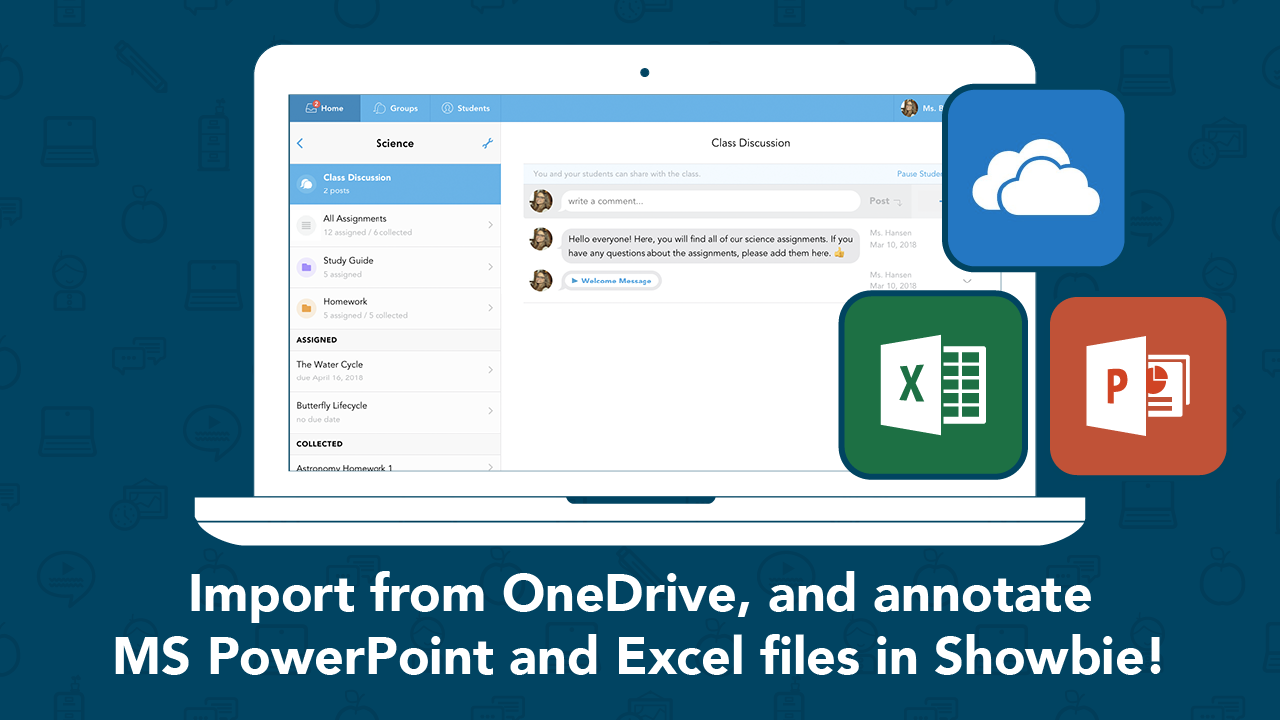 OneDrive and PowerPoint and Excel — Oh My! Showbie